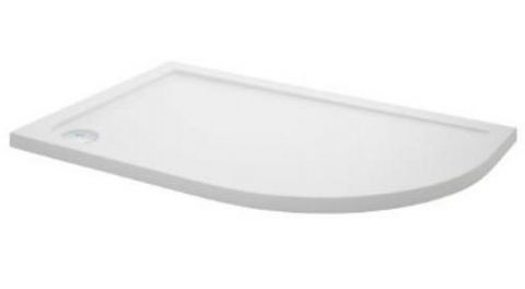 Ultra Pearlstone 900mm x 800mm Offset Quadrant Right Hand Shower Tray